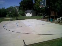 Backyard Basketball Court Stencil
