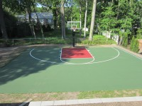 Concrete Backyard Basketball Court