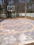 Brick Paver Hoops Court