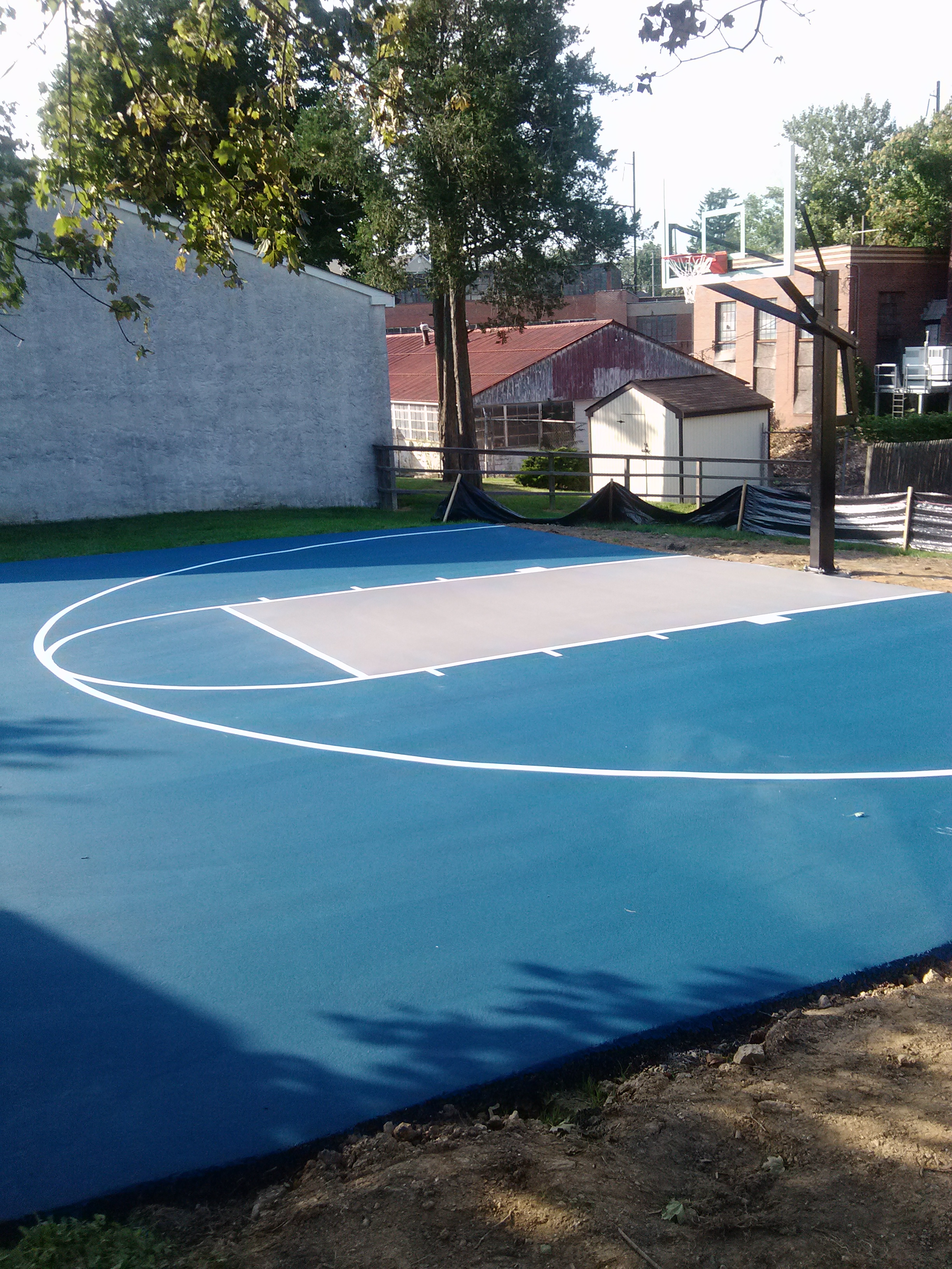 Backyard Basketball Court Size Basketball Scores