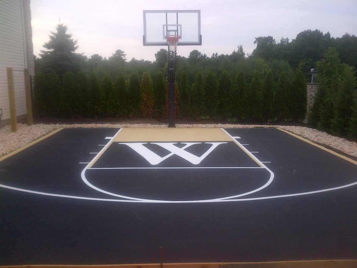 Basketball court painting home court hoops for At home basketball court