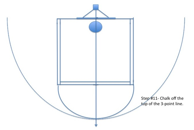 diy basketball court stencil home court hoops